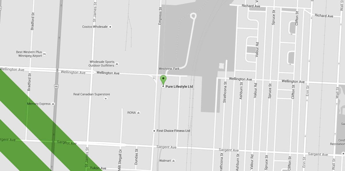 Pure Winnipeg lifestyle map